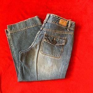 Hydraulic denim Capri pants. Size 7/8